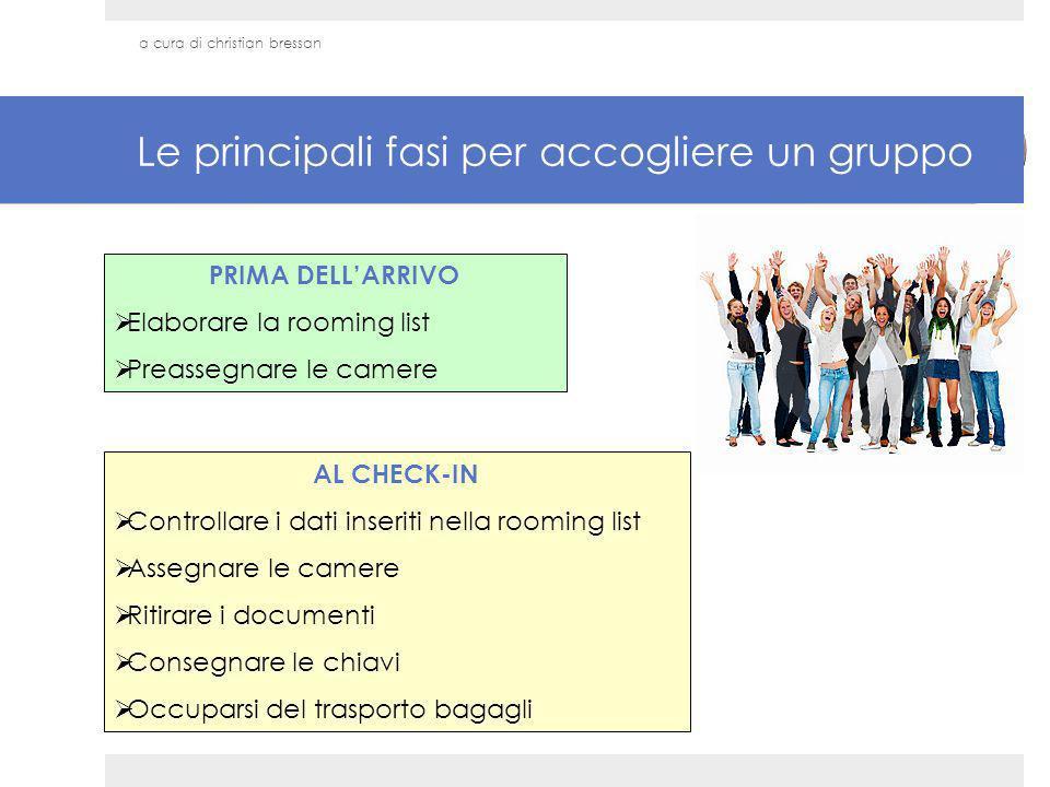Le principali fasi per accogliere un gruppo