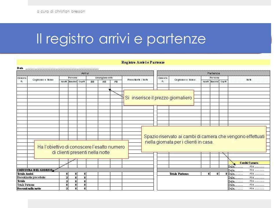 Il registro arrivi e partenze
