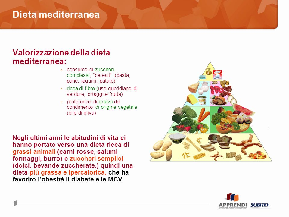 Dieta mediterranea Valorizzazione della dieta mediterranea:
