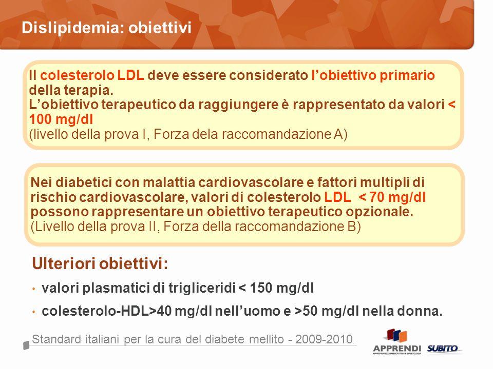 Dislipidemia: obiettivi