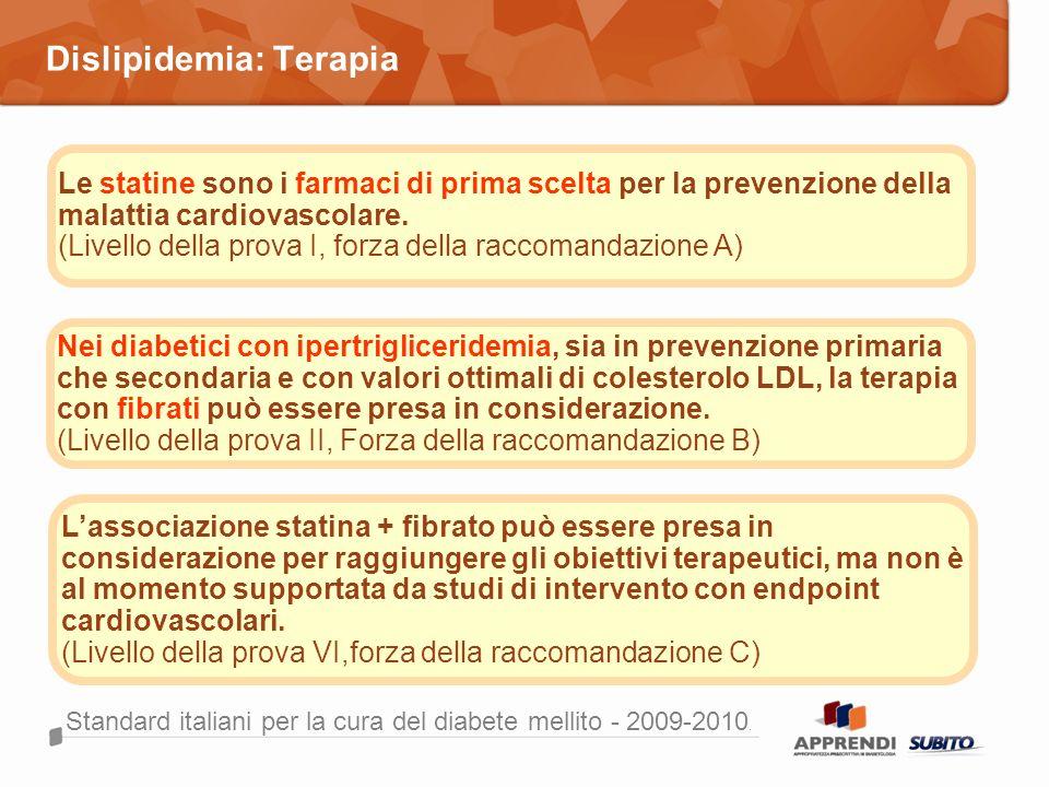 Dislipidemia: Terapia