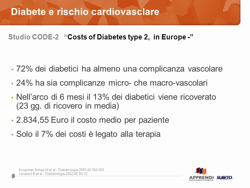 Diabete e rischio cardiovasclare