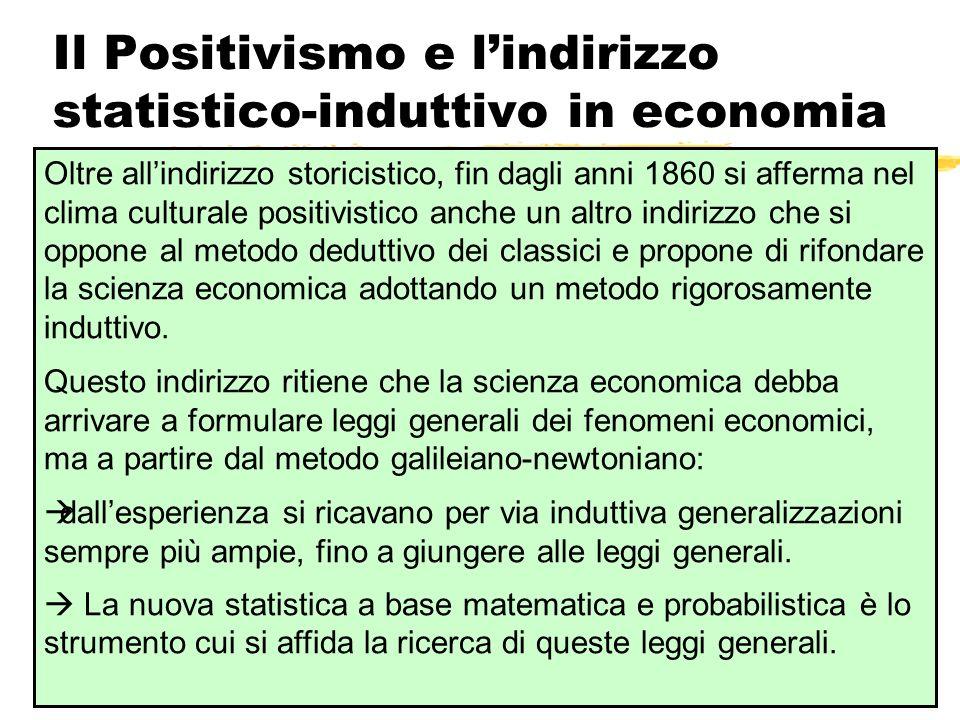 Il Positivismo e l'indirizzo statistico-induttivo in economia