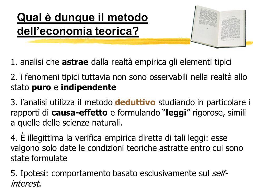 Qual è dunque il metodo dell'economia teorica