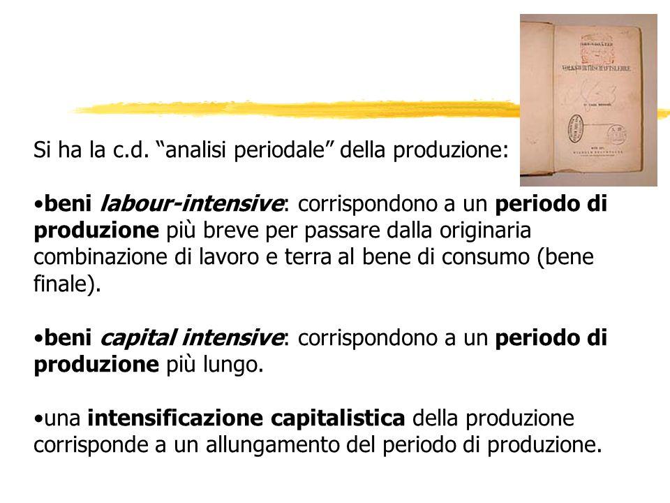 Si ha la c.d. analisi periodale della produzione: