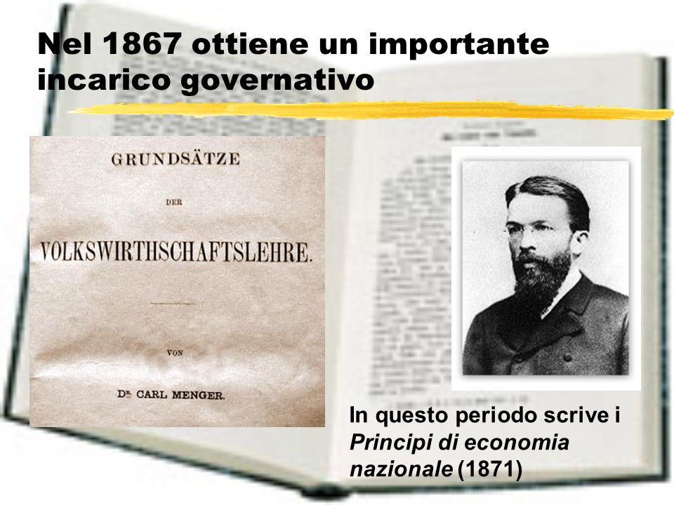 Nel 1867 ottiene un importante incarico governativo