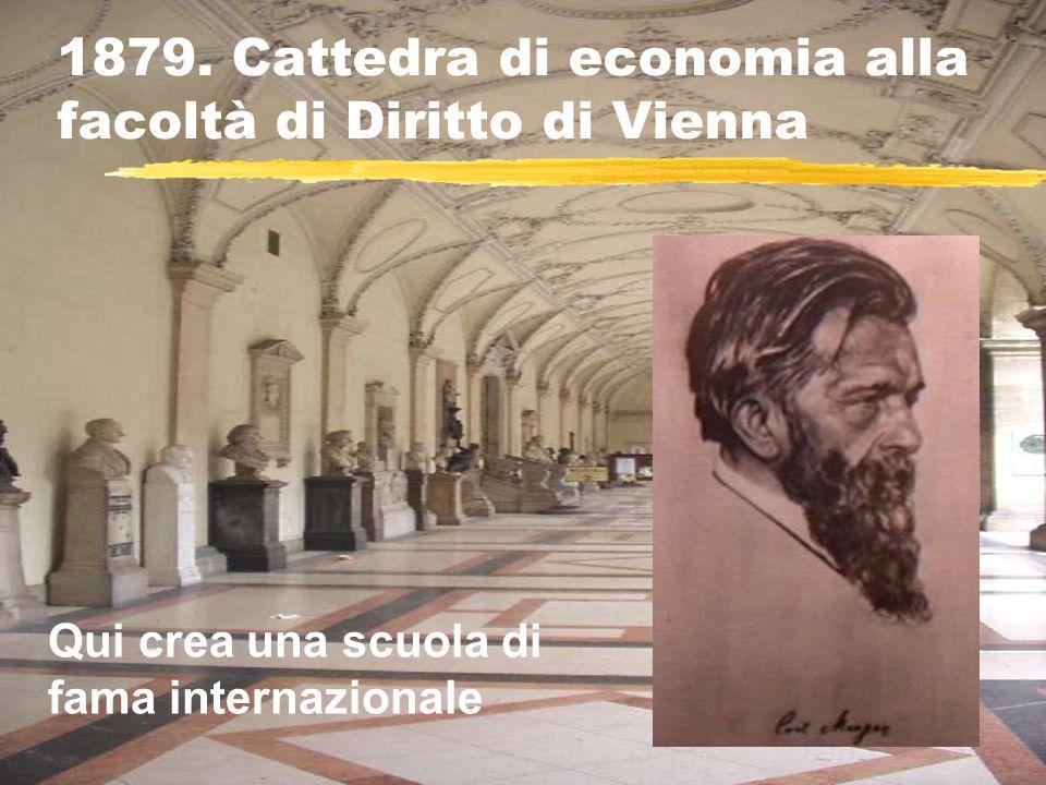 1879. Cattedra di economia alla facoltà di Diritto di Vienna