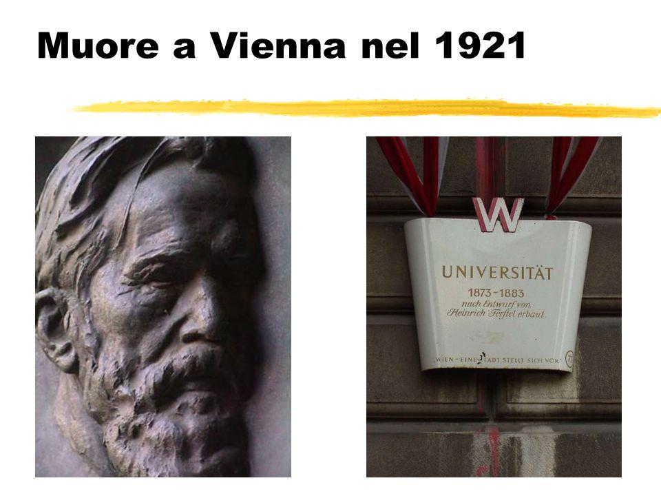 Muore a Vienna nel 1921