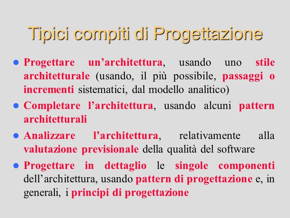 Tipici compiti di Progettazione