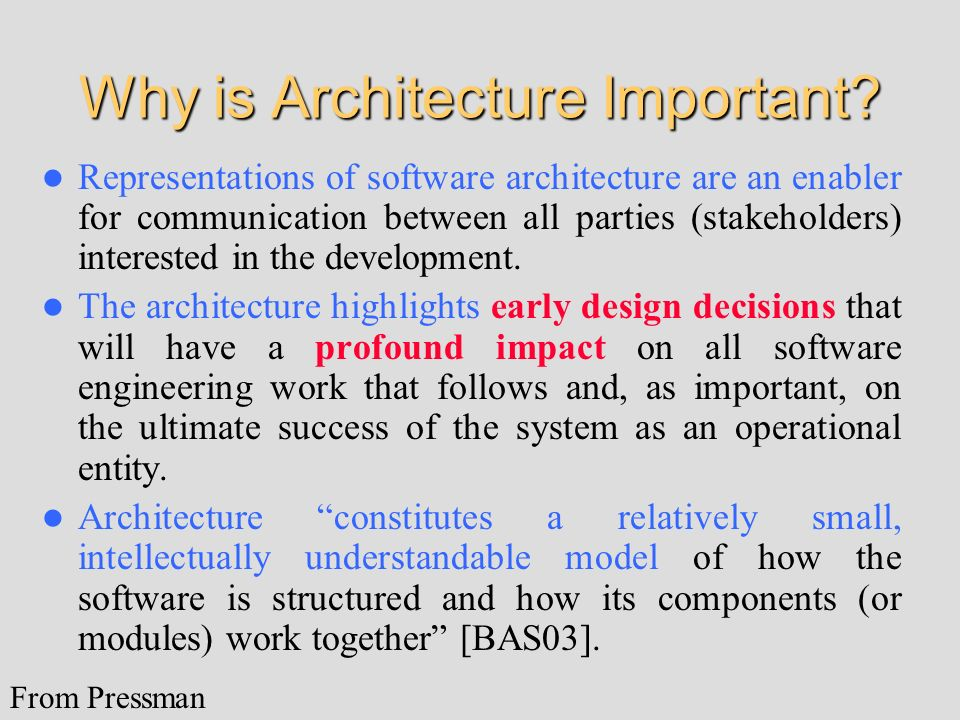 Why is Architecture Important