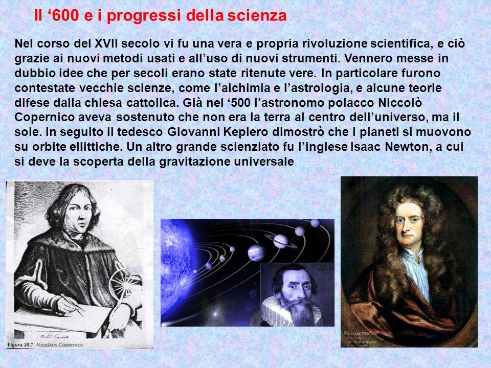 Il '600 e i progressi della scienza