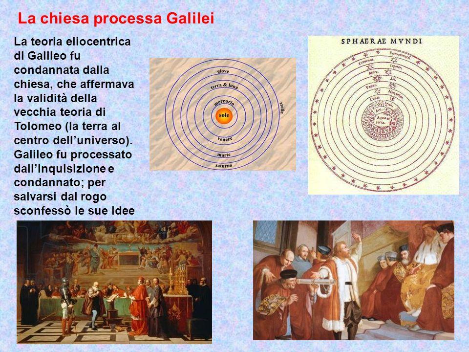 La chiesa processa Galilei