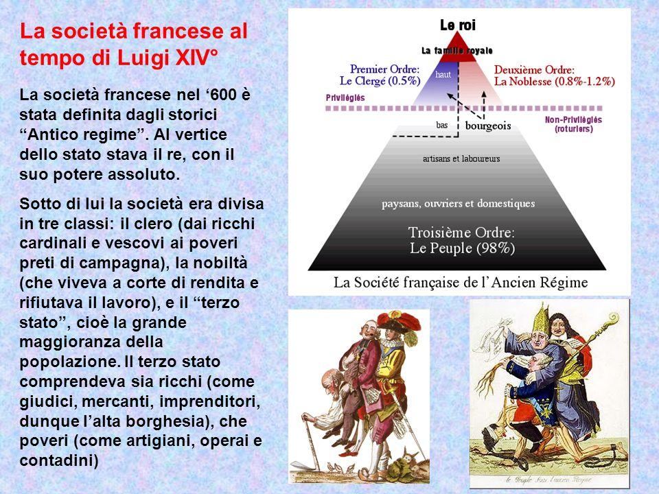 La società francese al tempo di Luigi XIV°
