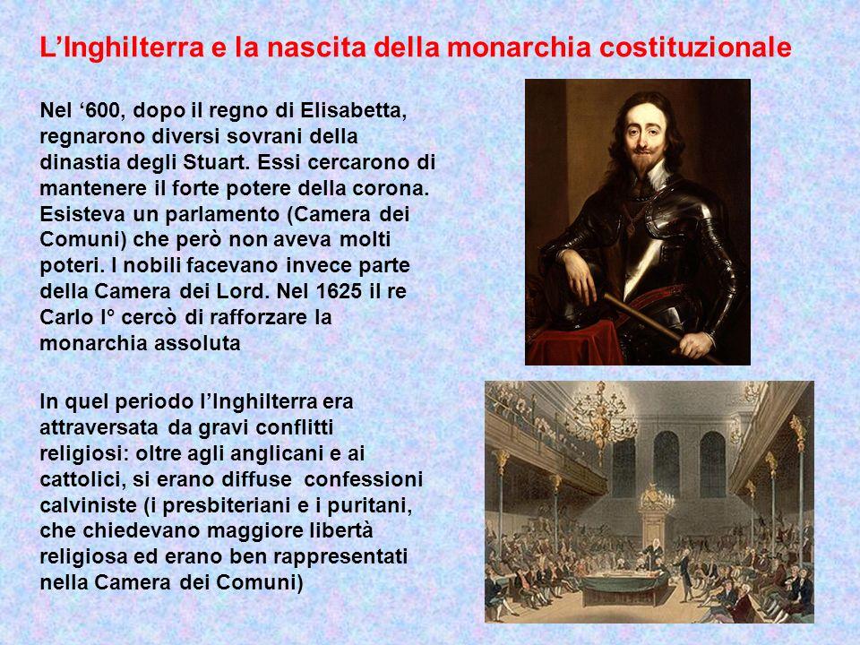 L'Inghilterra e la nascita della monarchia costituzionale