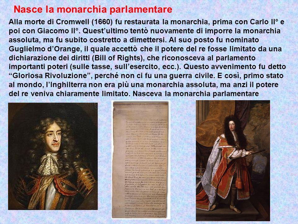 Nasce la monarchia parlamentare