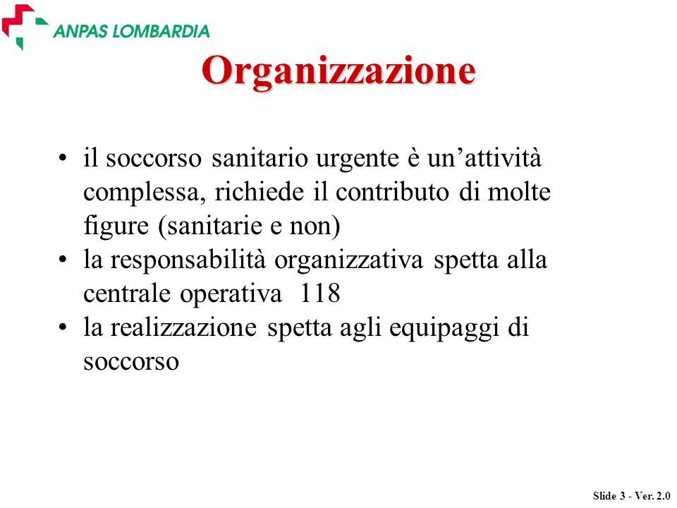 Organizzazione il soccorso sanitario urgente è un'attività complessa, richiede il contributo di molte figure (sanitarie e non)