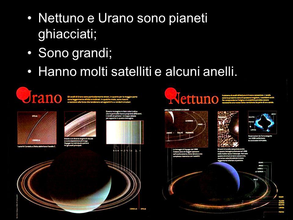 Nettuno e Urano sono pianeti ghiacciati;