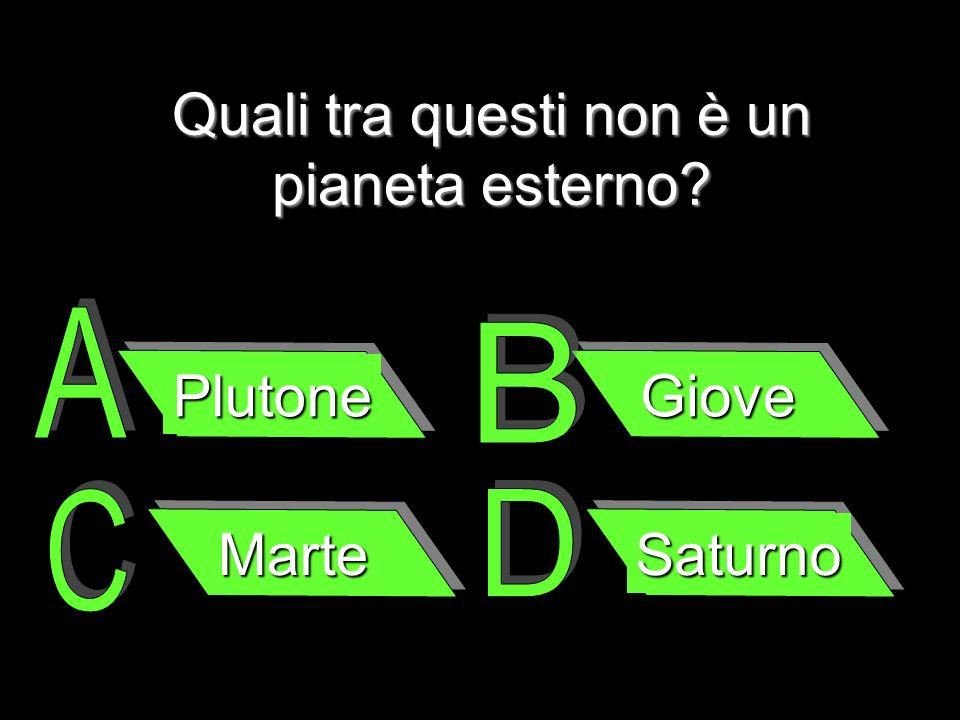 Quali tra questi non è un pianeta esterno