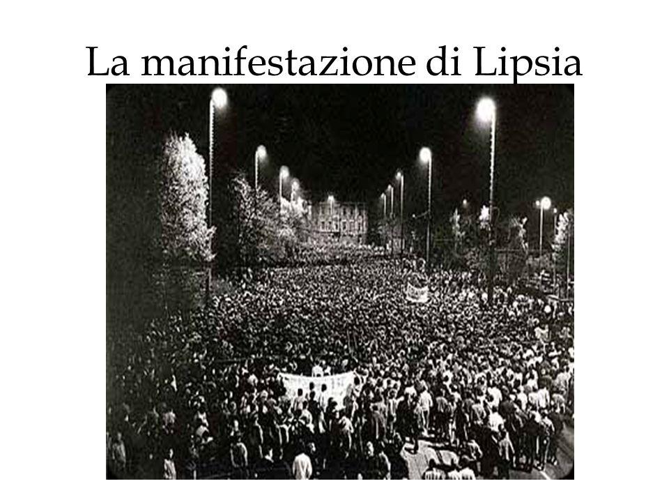 La manifestazione di Lipsia