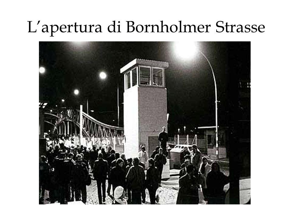 L'apertura di Bornholmer Strasse