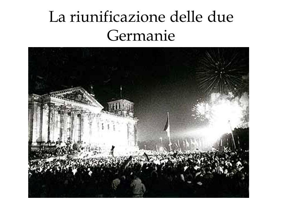 La riunificazione delle due Germanie