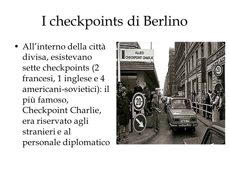 I checkpoints di Berlino