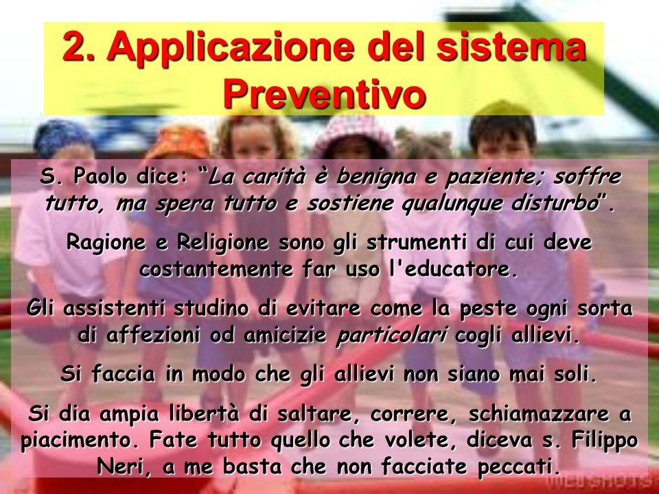 2. Applicazione del sistema Preventivo