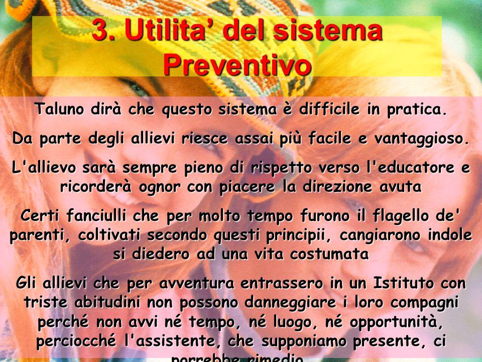 3. Utilita' del sistema Preventivo