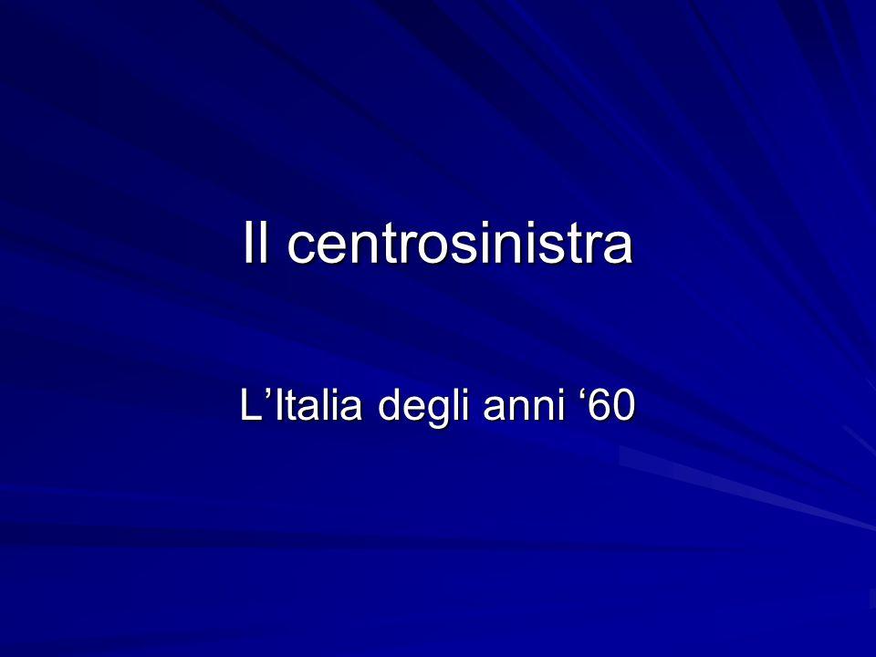 Il centrosinistra L'Italia degli anni '60