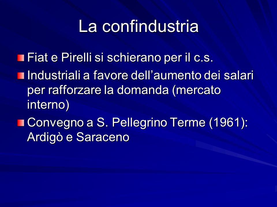 La confindustria Fiat e Pirelli si schierano per il c.s.