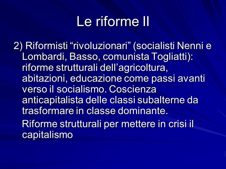 Le riforme II