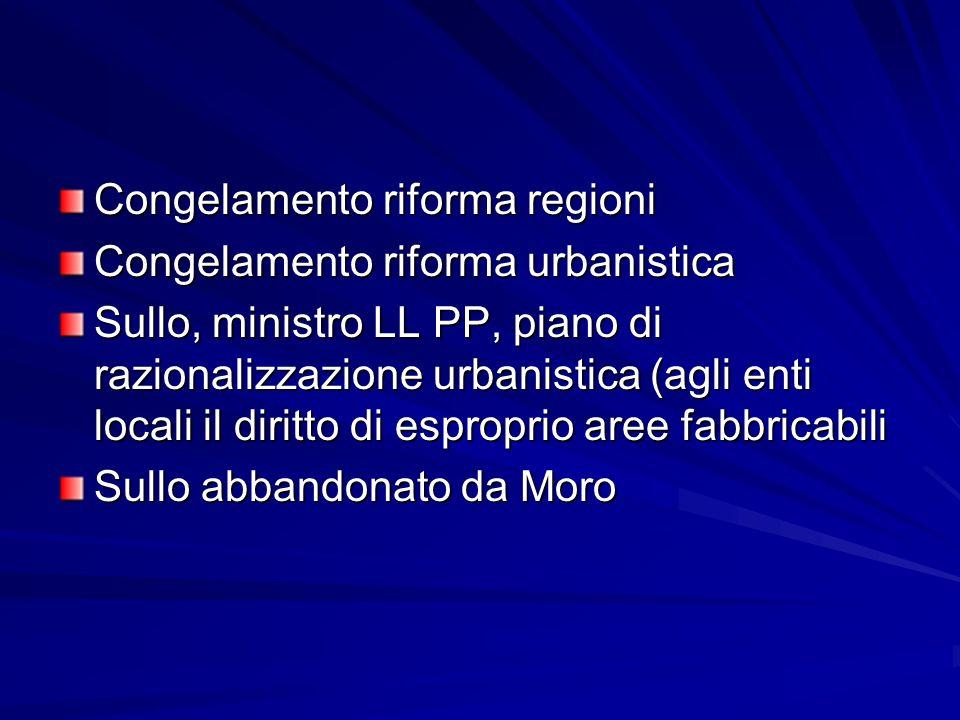 Congelamento riforma regioni