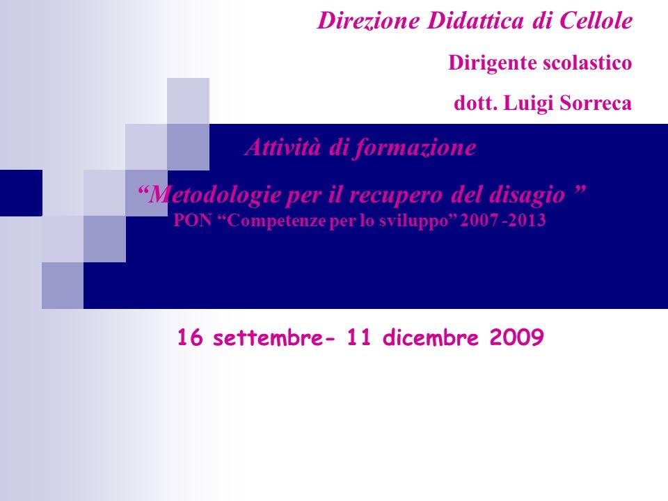 Attività di formazione PON Competenze per lo sviluppo 2007 -2013