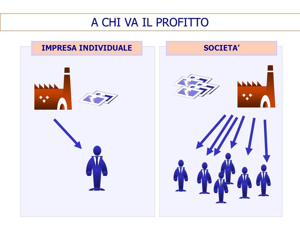 A CHI VA IL PROFITTO IMPRESA INDIVIDUALE SOCIETA'