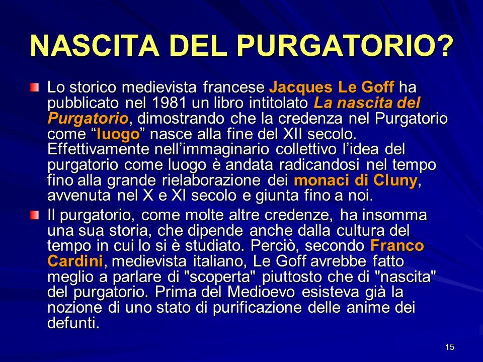 NASCITA DEL PURGATORIO