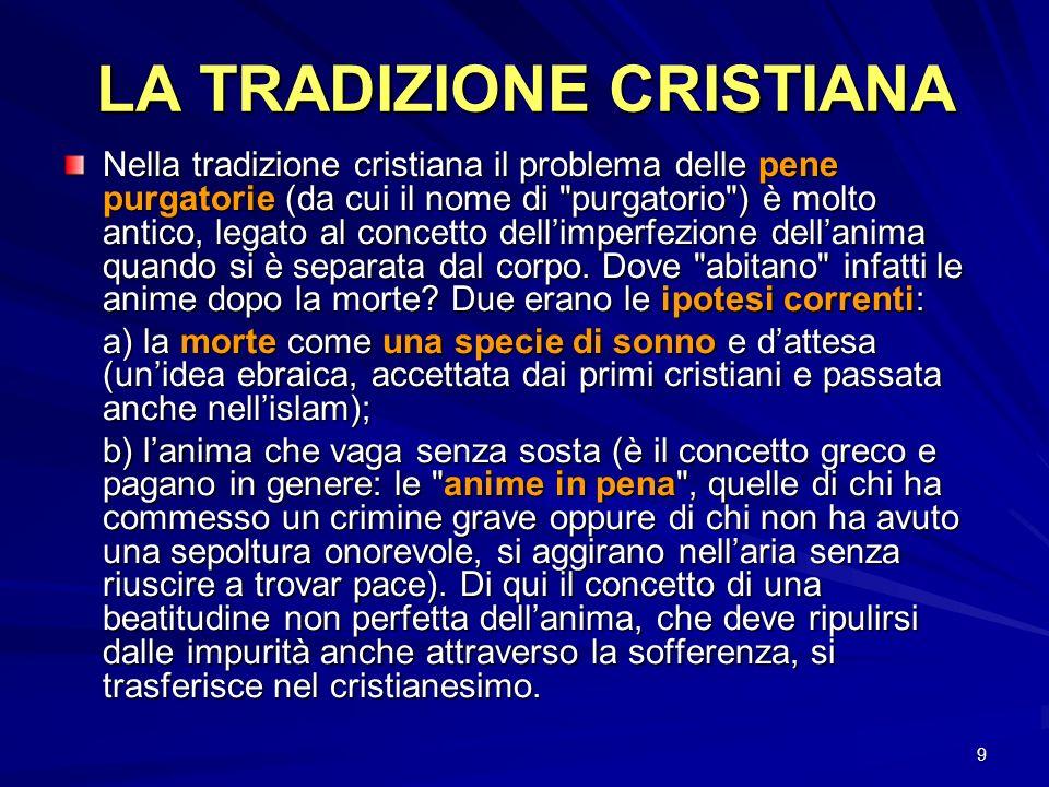 LA TRADIZIONE CRISTIANA