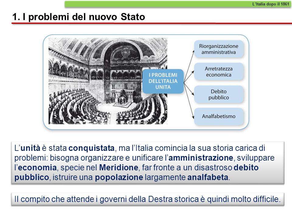 1. I problemi del nuovo Stato