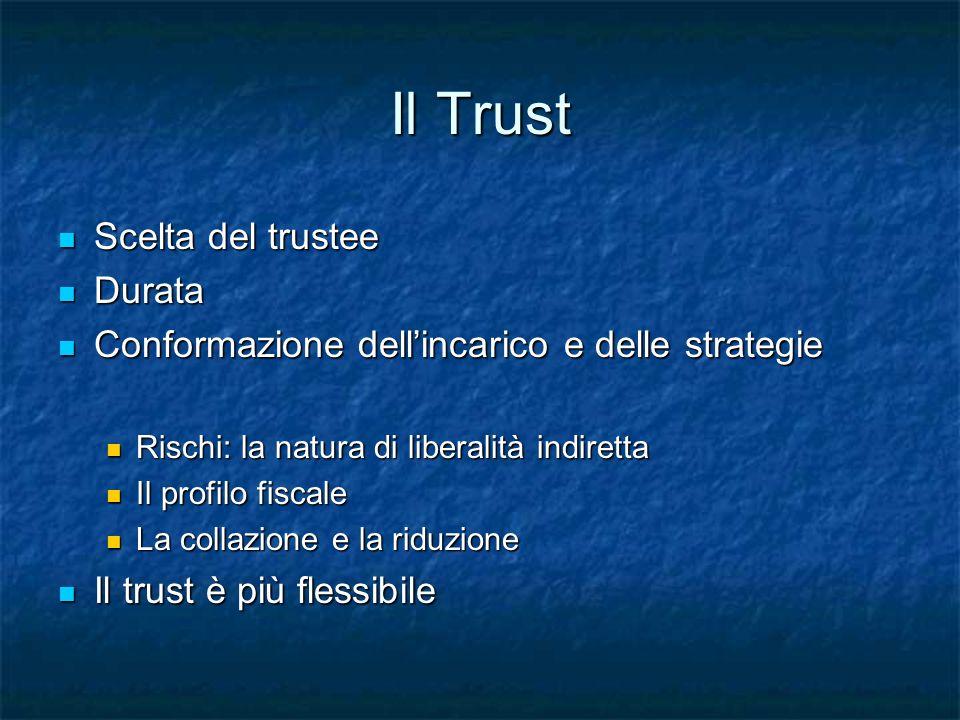 Il Trust Scelta del trustee Durata