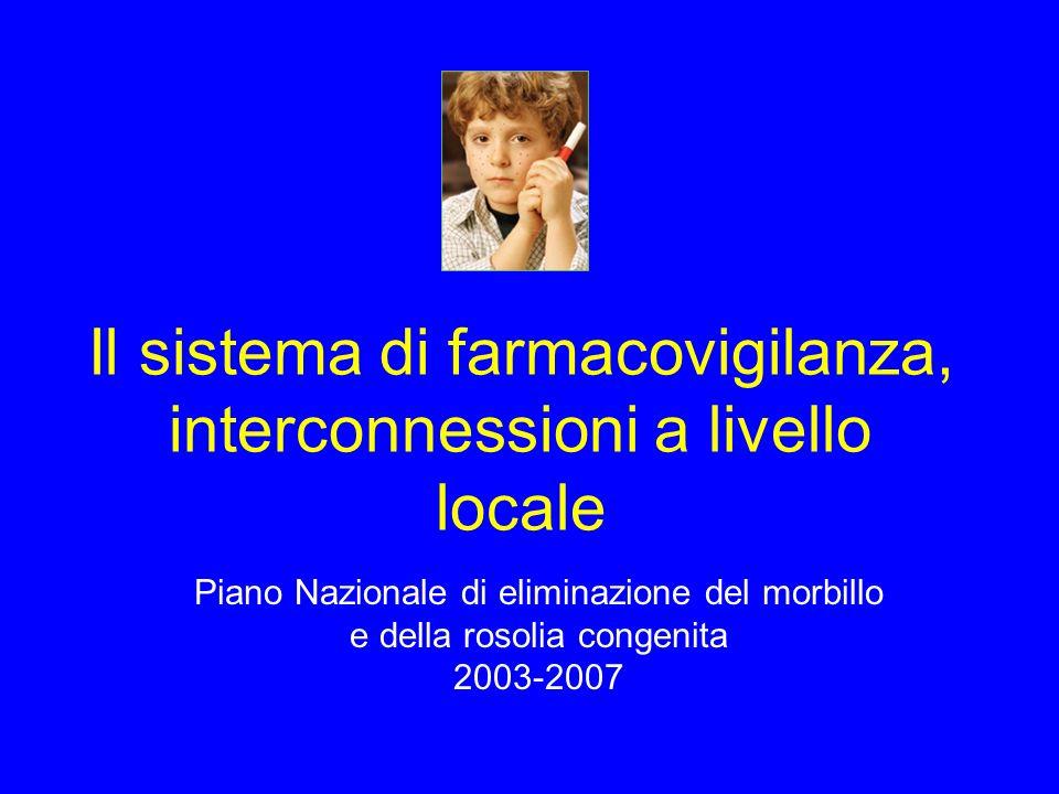 Il sistema di farmacovigilanza, interconnessioni a livello locale