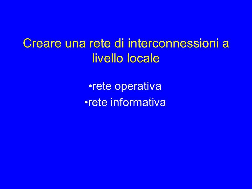 Creare una rete di interconnessioni a livello locale