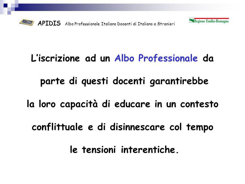 APIDIS Albo Professionale Italiano Docenti di Italiano a Stranieri