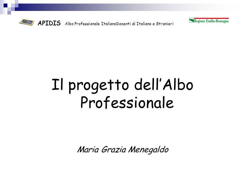APIDIS Albo Professionale ItalianoDocenti di Italiano a Stranieri