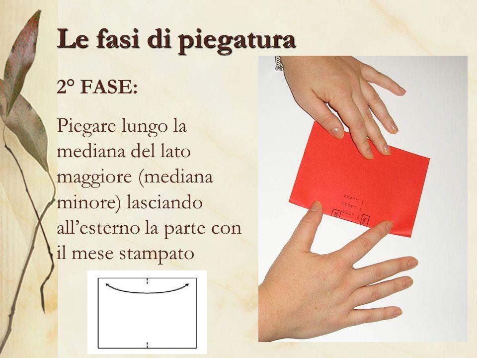 Le fasi di piegatura 2° FASE: