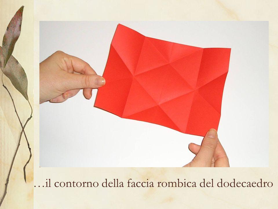 …il contorno della faccia rombica del dodecaedro