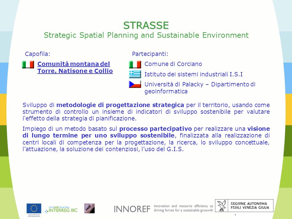STRASSE Strategic Spatial Planning and Sustainable Environment
