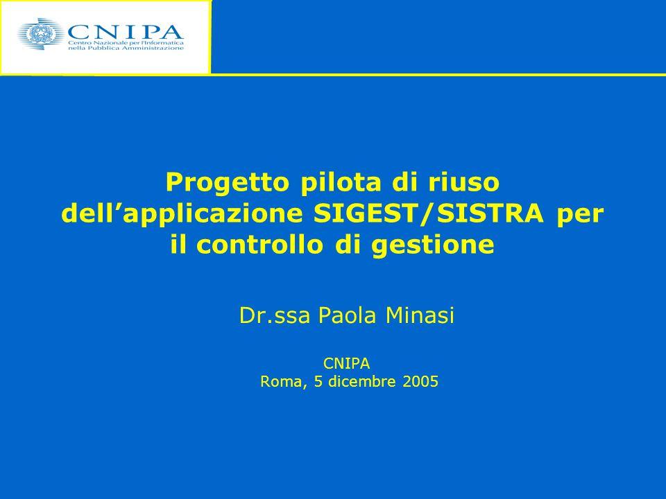 Dr.ssa Paola Minasi CNIPA Roma, 5 dicembre 2005