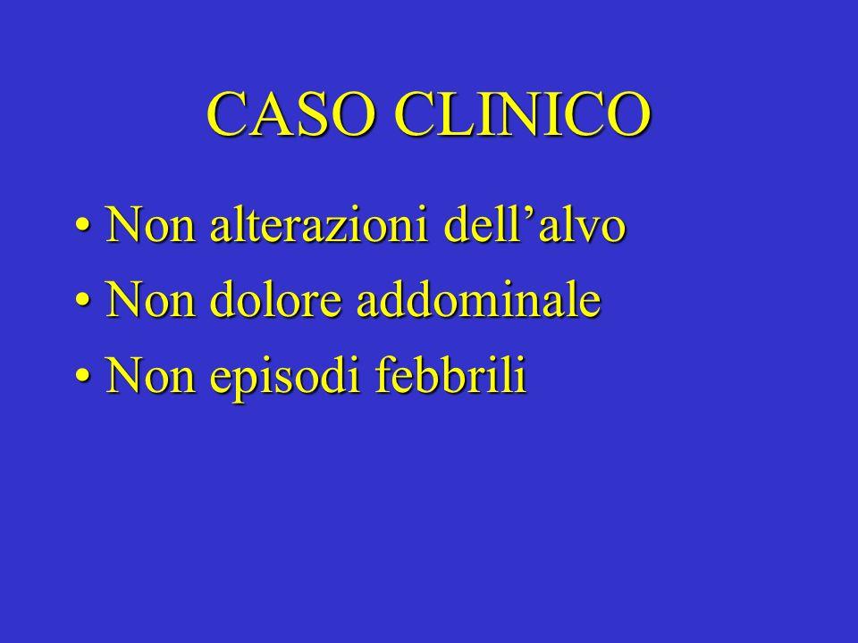 CASO CLINICO Non alterazioni dell'alvo Non dolore addominale