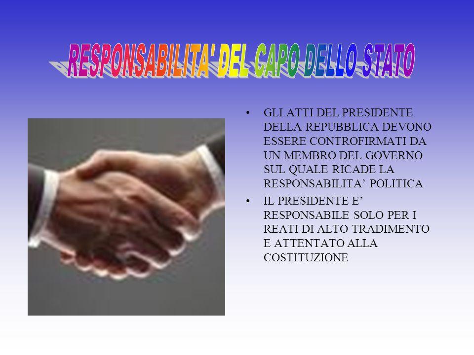 RESPONSABILITA DEL CAPO DELLO STATO
