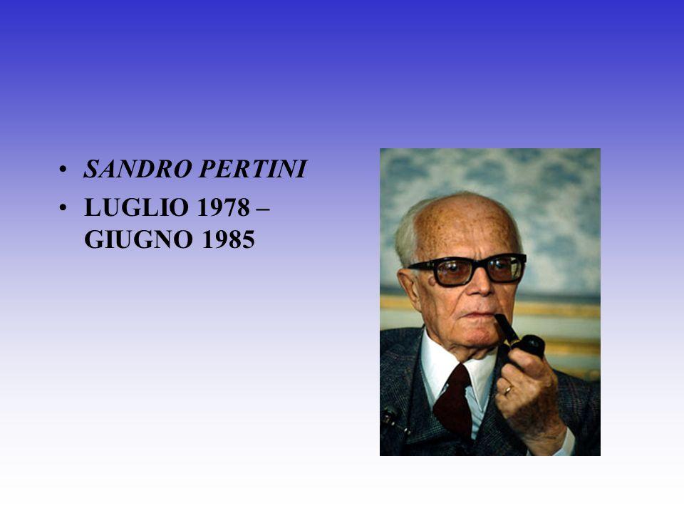 SANDRO PERTINI LUGLIO 1978 – GIUGNO 1985