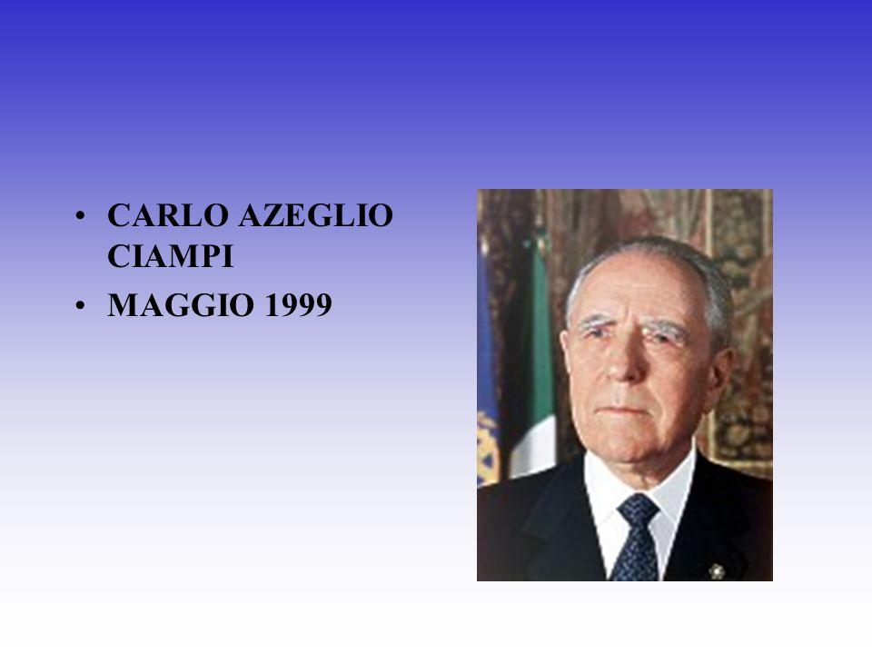 CARLO AZEGLIO CIAMPI MAGGIO 1999